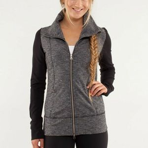 Lululemon coco pique daily practice warm-up jacket